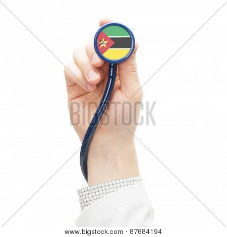 Stethoscope With National Flag Series - Mozambique