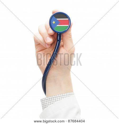 Stethoscope With National Flag Series - South Sudan