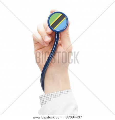 Stethoscope With National Flag Series - Tanzania