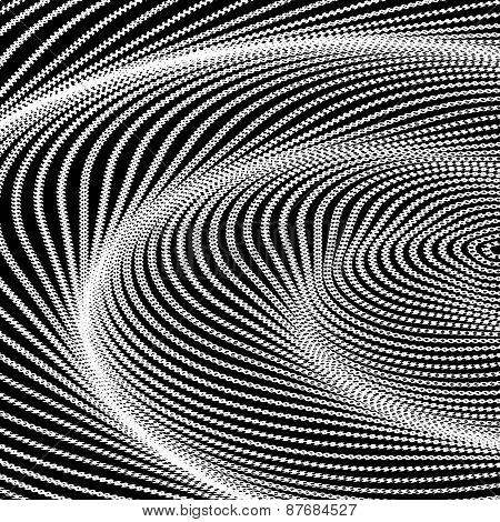Design Monochrome Swirl Movement Illusion Background