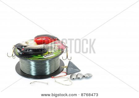 fishing line with tackle