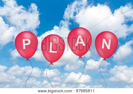 Planning Text On Balloon