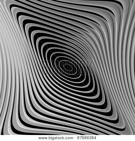 Design Monochrome Whirl Ellipse Motion Background