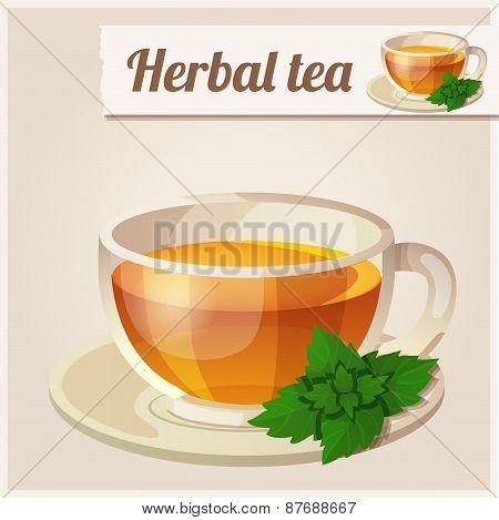 Detailed Icon. Mint tea.