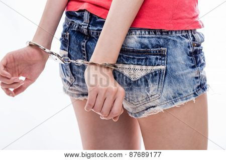 Woman With Hands Cuffed