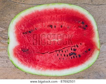 A Half Of Ripe Water-melon