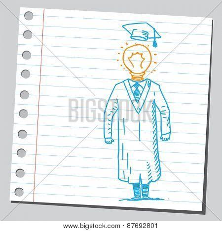 Lightbulb graduate student
