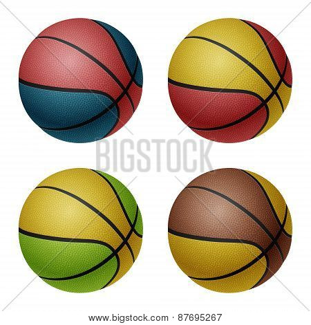 Set Of Basketballs