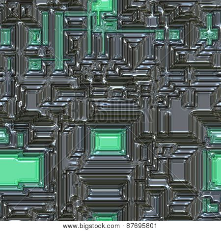 Metal Glass Seamless Generated Texture