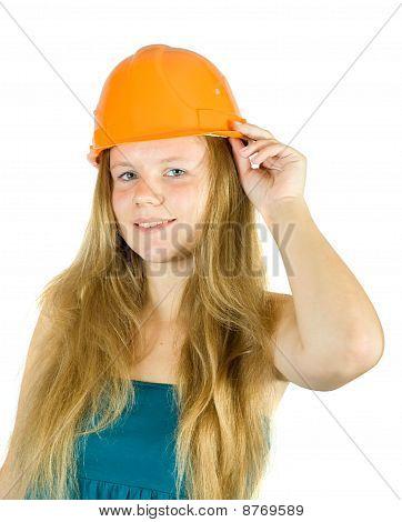 Girl In Hard Hat
