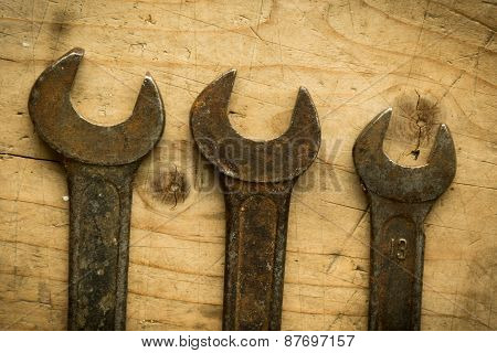 Old Open End Wrenches