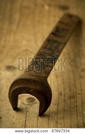 Old Open End Wrench