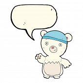 image of bear-cub  - cartoon polar bear cub - JPG