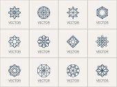 image of mehendi  - Geometric logo template set - JPG