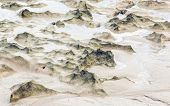 stock photo of tide  - scenic beach dunes created by the low tide  - JPG