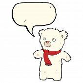 pic of bear-cub  - cartoon polar bear cub - JPG