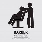 picture of barber  - Barber Black Symbol Vector Illustration - JPG