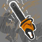 pic of chainsaw  - The Chainsaw Monster eps 8 file format - JPG