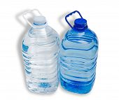 image of plastic bottle  - Two large plastic bottle with handles with drinking water  - JPG