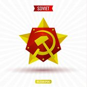 pic of hammer sickle  - Soviet star hammer and sickle - JPG