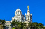 picture of notre dame  - Notre Dame de la Garde in Marseille France - JPG