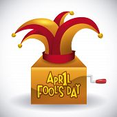 picture of fool  - April fools day design - JPG