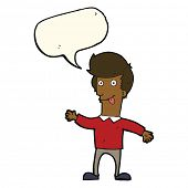 picture of sticking out tongue  - cartoon man sticking out tongue with speech bubble - JPG