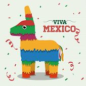 stock photo of mexican fiesta  - Mexico  mexican culture card design - JPG