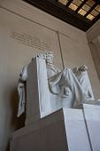 stock photo of abraham lincoln memorial  - lincoln memorial statue located in washington d - JPG