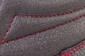 stock photo of stitches  - Close up of red stitch - JPG