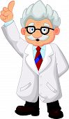 picture of professor  - Vector illustration of Professor cartoon pointing his hand - JPG
