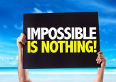 pic of impossible  - Impossible is Nothing card with beach background - JPG
