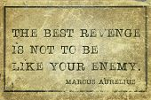 picture of revenge  - The best revenge is not to be like your enemy  - JPG
