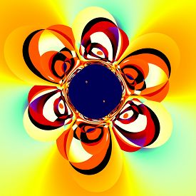 stock photo of distort  - Abstract floral art - JPG