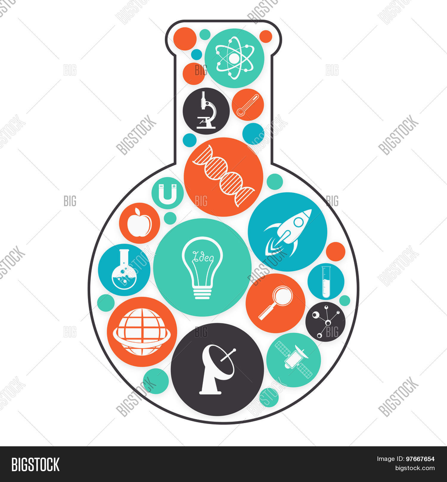 Science Signs And Symbols Various colorful science signs and symbols ...