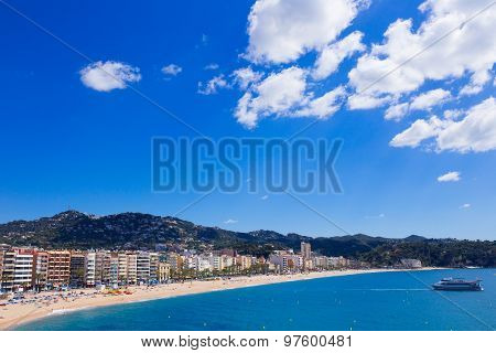 Waterfront of Lloret de Mar Costa Brava Spain