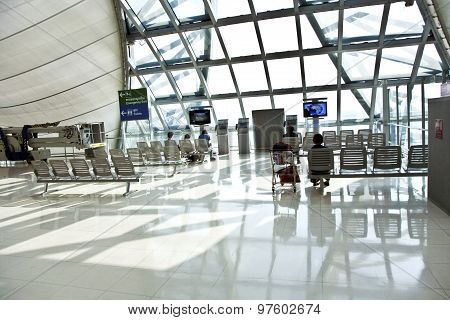 Departure Gate And Hall In The New Airport