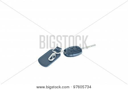 Isolate Shot Of Remote Control Vehicle Key With Keyring