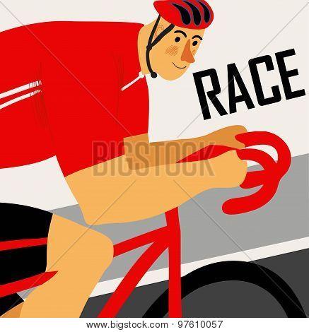 Racing Cyclist Poster
