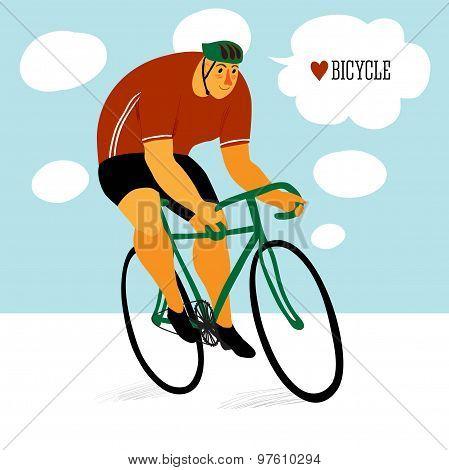 Cute Racing Cyclist