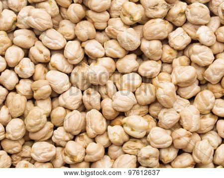 Dried Gabanzo Bean Chickpea  Food Background