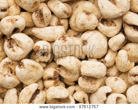 Puffed Corn Snack Food Background
