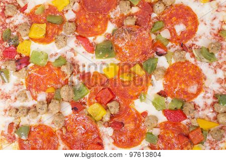 Square Pizza On White Background