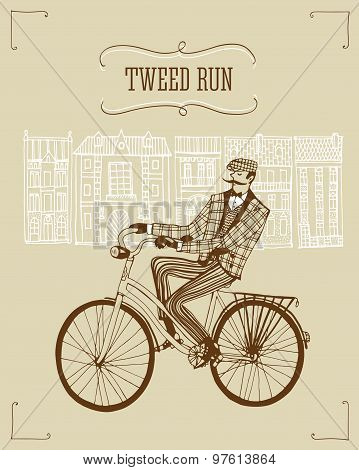 Tweed Run Illustration