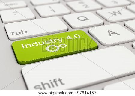 Keyboard - Industry - 4.0 - Green