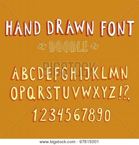 Doodle 3D Vector Font