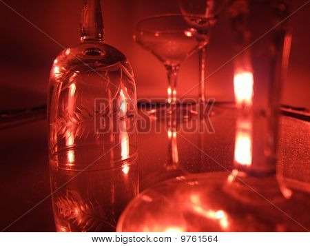 Wine Glasses in Red
