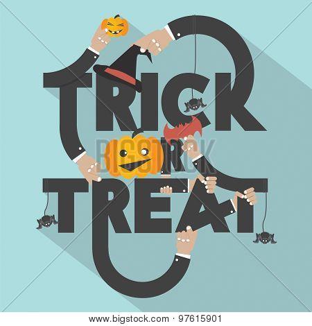 Trick Or Treat Typography Design.