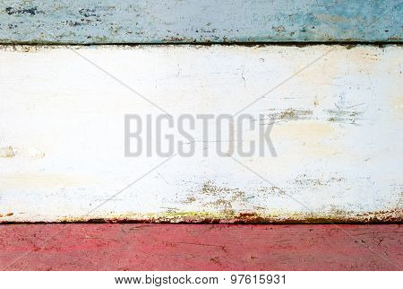 Scratched Painted Wooden Surface With Space For Text