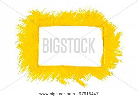 Yellow paint frame